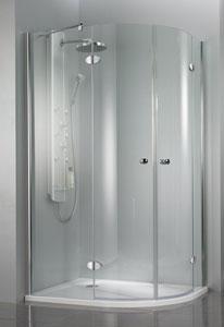 Beispiel teilgerahmte Dusche